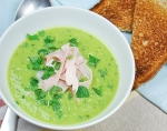 pea soup with ham and mint 2
