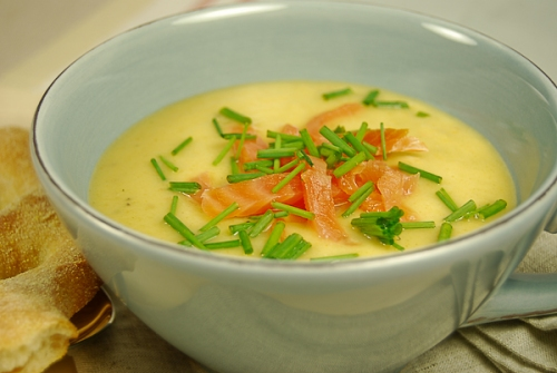 potato soup with smoked salmon 2